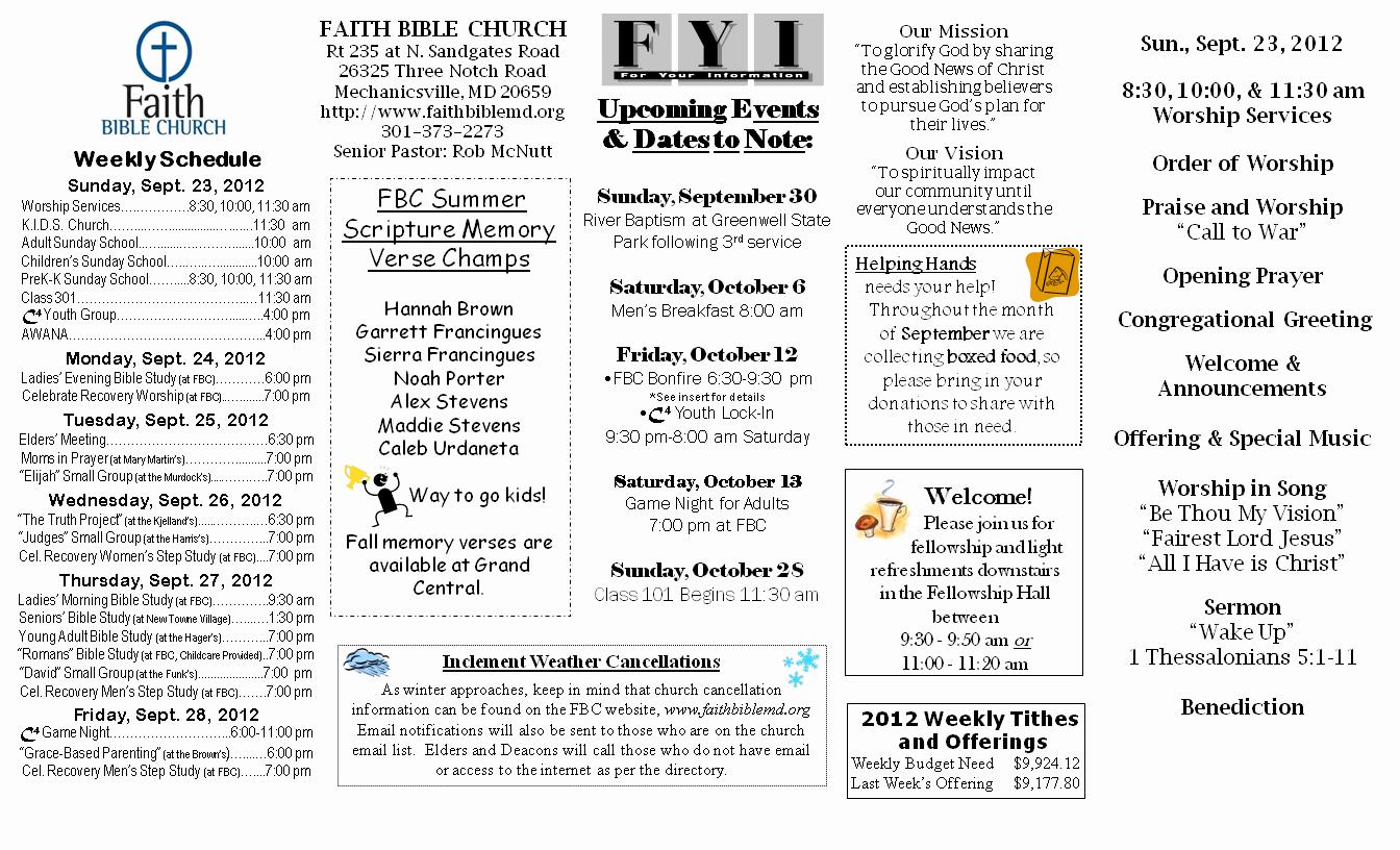 Church Bulletin Ideas Free Beautiful Church Bulletins
