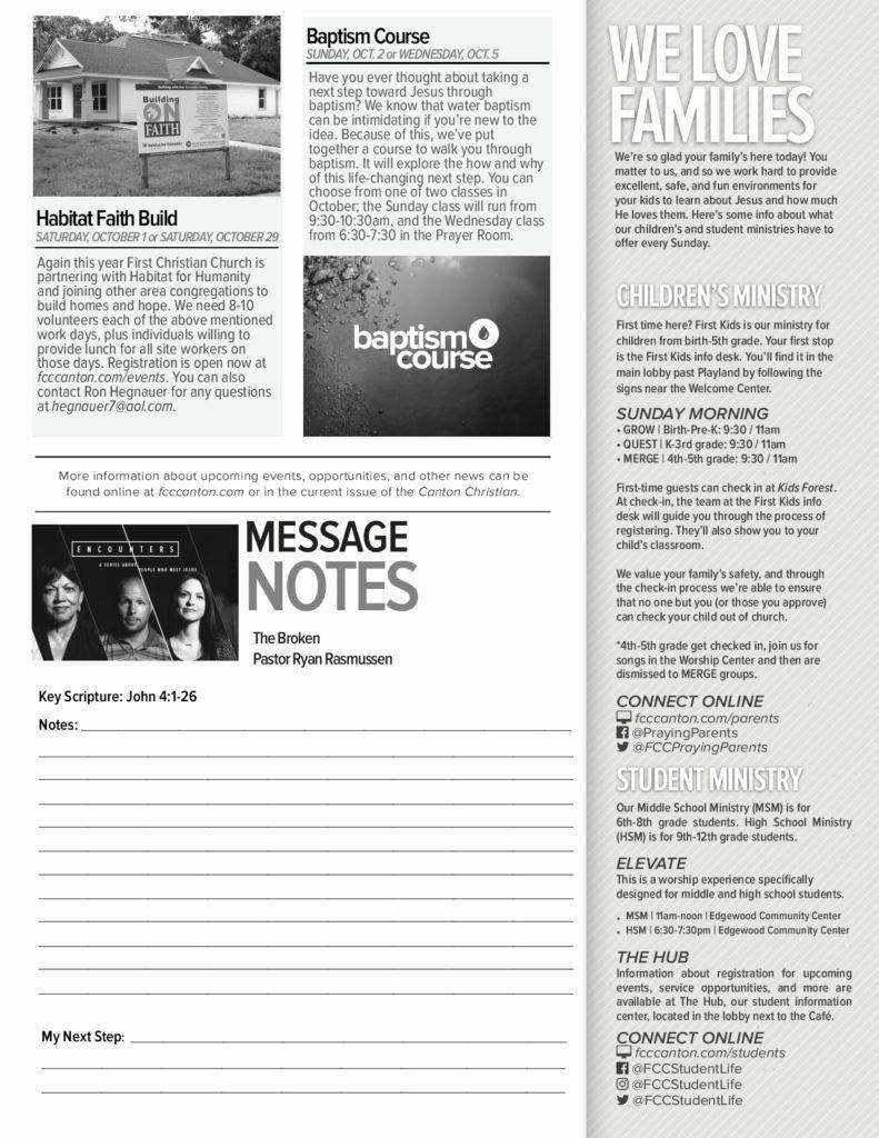 Church Bulletin Ideas Free Inspirational Church Bulletin Ideas – Examples Of Church Bulletins and