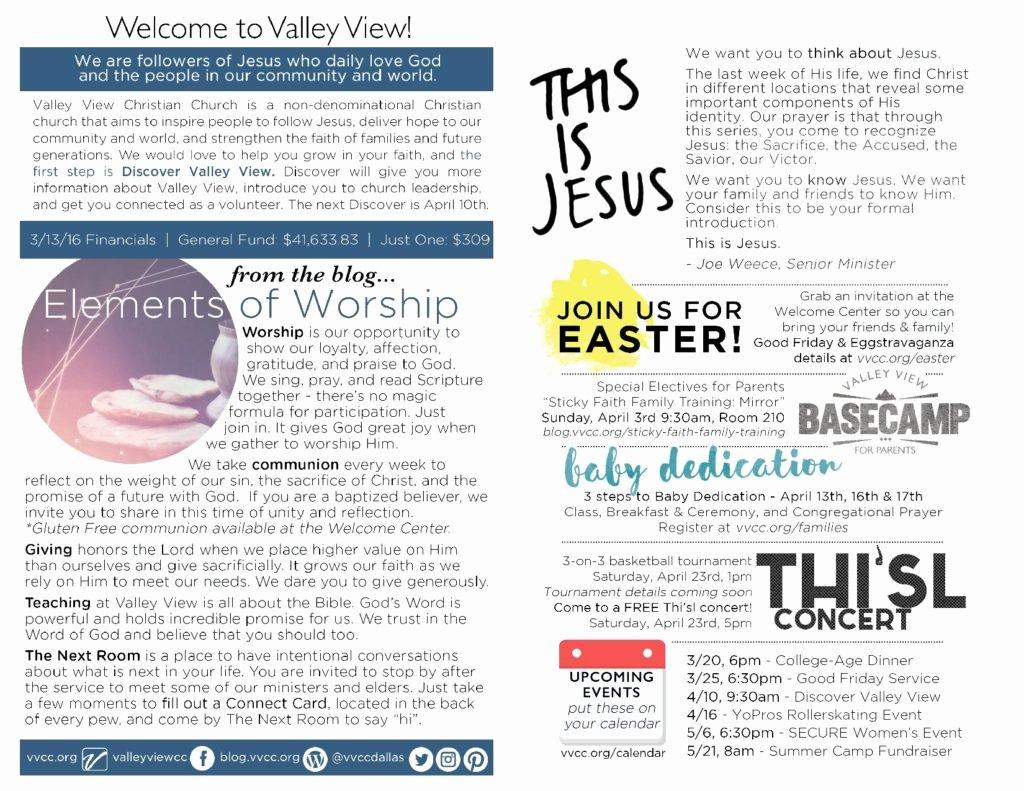 Church Bulletin Ideas Free Unique Church Bulletin Ideas – Examples Of Church Bulletins and