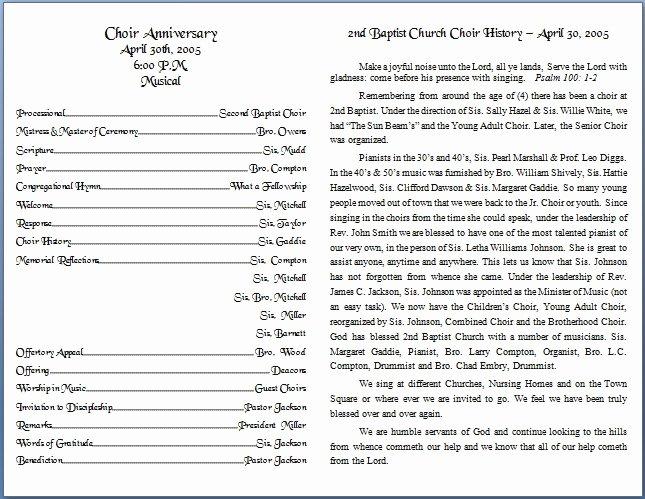 Church Bulletin Templates Free Elegant Church Bulletin Templates
