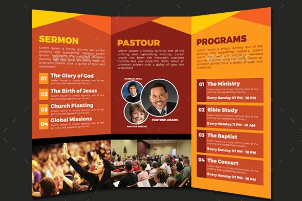 Church Bulletin Templates Indesign Awesome 20 Nice Church Brochure Templates Psd & Indesign