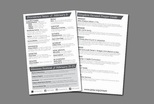 Church Bulletin Templates Indesign Beautiful Weekly Church Bulletin Layout On Behance