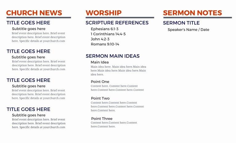 Church Bulletin Templates Indesign Luxury Church Bulletin Templates