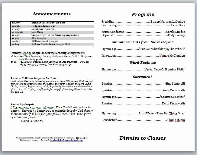 Church Bulletin Templates Indesign New Church Service Bulletin Template Templates Resume