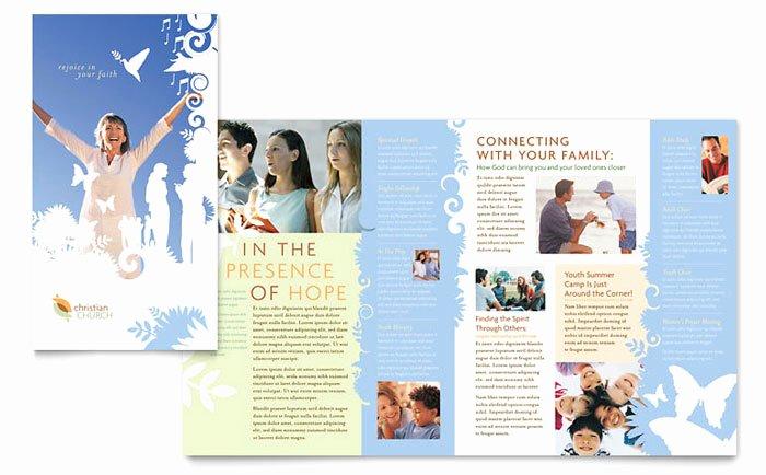 Church Bulletin Templates Indesign Unique Christian Church Brochure Template Design
