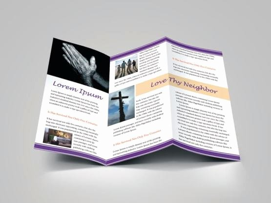 Church Bulletin Templates Indesign Unique Church Bulletin Religious Brochure