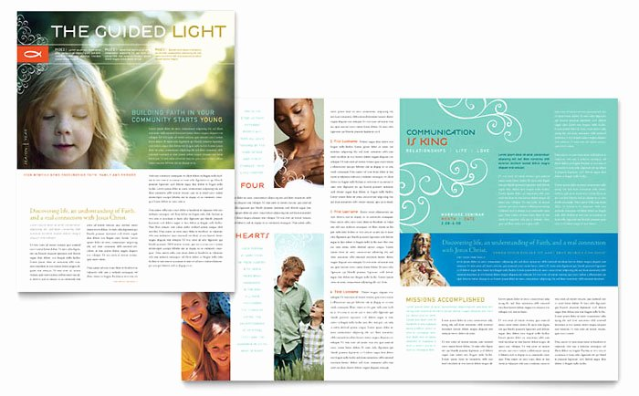 Church Bulletin Templates Microsoft Publisher Best Of Christian Church Religious Newsletter Template Design