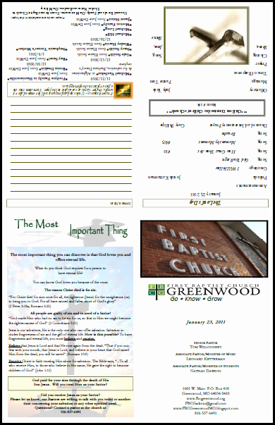 Church Bulletin Templates Microsoft Publisher Lovely One Page Church Bulletin