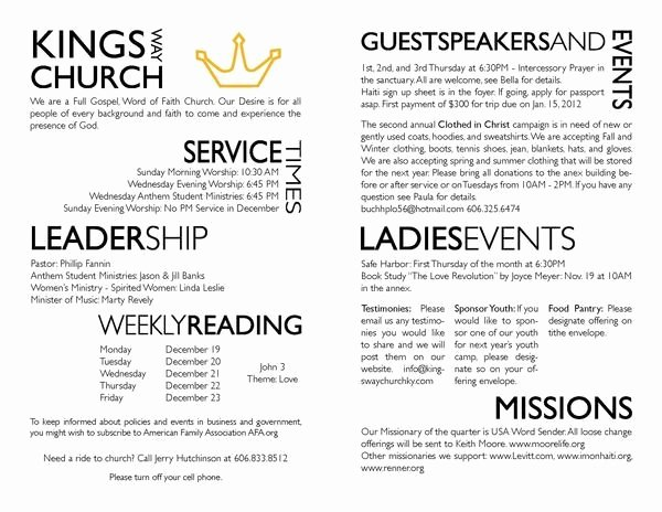 Church Bulletin Templates Microsoft Publisher Luxury Church Bulletin Templates Microsoft Publisher Templates