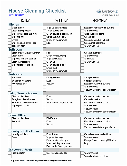 Church Cleaning Checklist Spreadsheet Awesome Cleaning Schedule Template Printable House Cleaning
