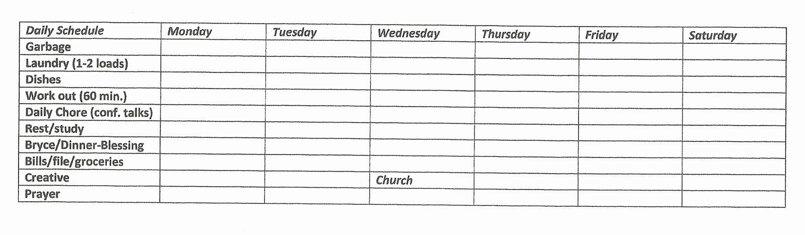 Church Cleaning Checklist Spreadsheet Awesome Free Janitorial Bidding Spreadsheet