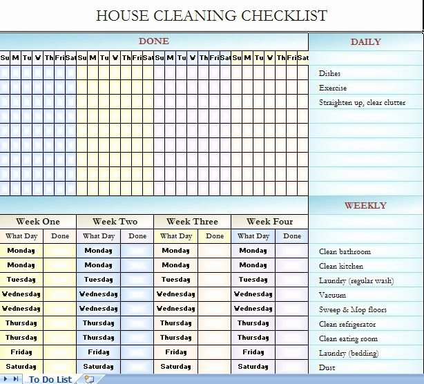 Church Cleaning Checklist Spreadsheet Fresh House Cleaning Checklist It S In Excel so You Can Change