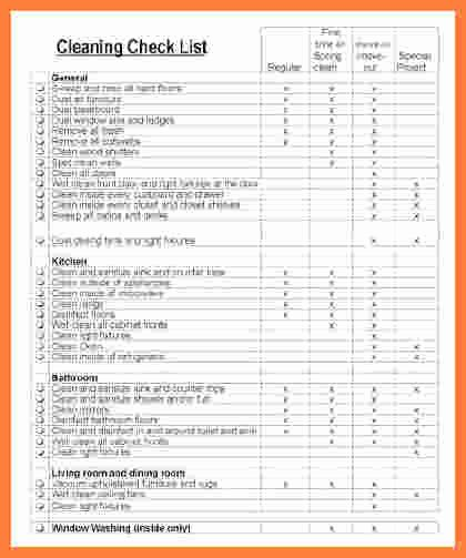 Church Cleaning Checklist Spreadsheet Lovely 10 Move Out Cleaning Checklist