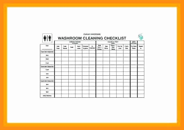Church Cleaning Checklist Spreadsheet Lovely 11 12 Church Cleaning Checklist