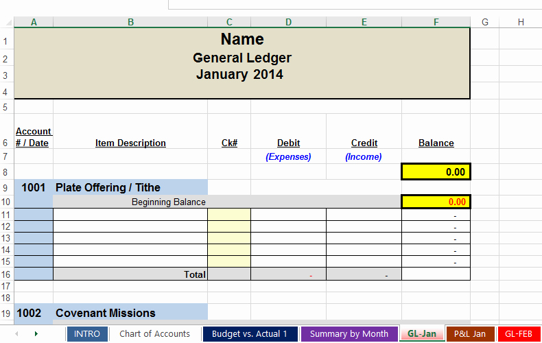 Church Income and Expense Statement Template Fresh Free Spreadsheets to Track Church and Non Profit Expenses