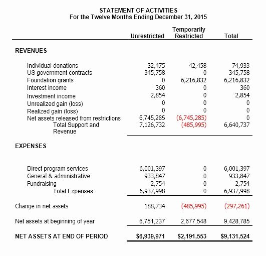 Church Income and Expense Statement Template Unique Understanding Nonprofit Financial Statements