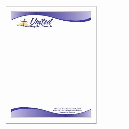 Church Letterhead Templates Elegant Sample Church Letterhead
