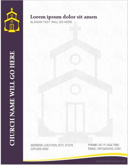 Church Letterhead Templates Fresh 5 Best Ms Word Church Letterhead Templates