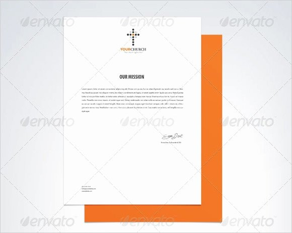 Church Letterhead Templates Luxury 6 Sample Church Letterheads