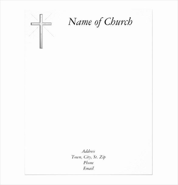 Church Letterhead Templates Luxury Free Church Letterhead Templates