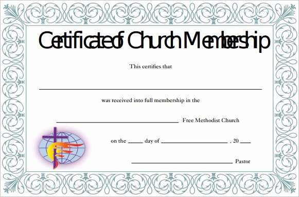 Church Membership form Fresh Membership Certificate Template 15 Free Sample Example