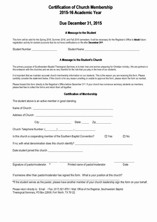 Church Membership form Inspirational top 9 Church Membership form Templates Free to In
