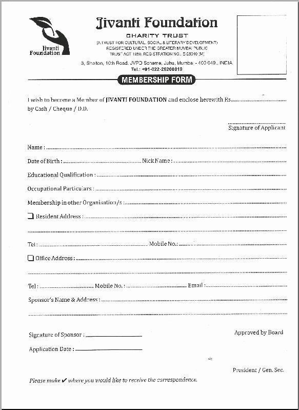 Church Membership form Unique 29 Of Sample Church Membership form Template