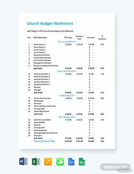 Church Ministry Budget Template Beautiful 12 Church Bud Templates Doc Excel Pdf