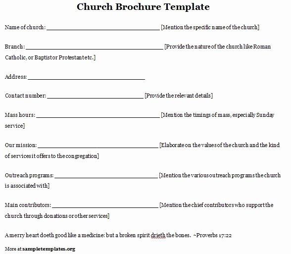 Church Program Template Free Awesome Church Program Template