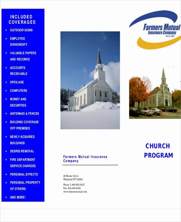 Church Program Template Free Beautiful 8 Church Program Samples – Free Sample Example format