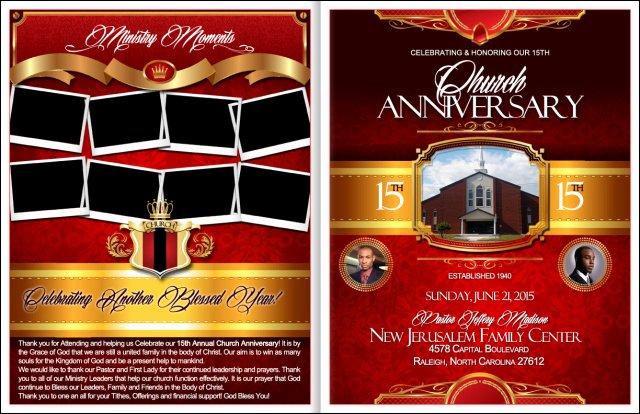 Church Program Template Free Beautiful Powerful Church Anniversary Program