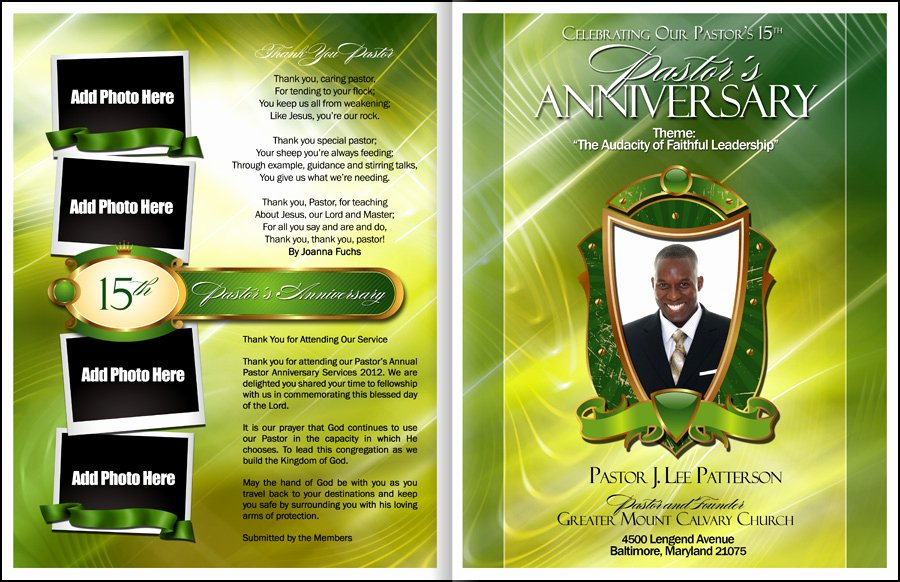 Church Program Template Free Best Of Abundant Pastor Anniversary Program