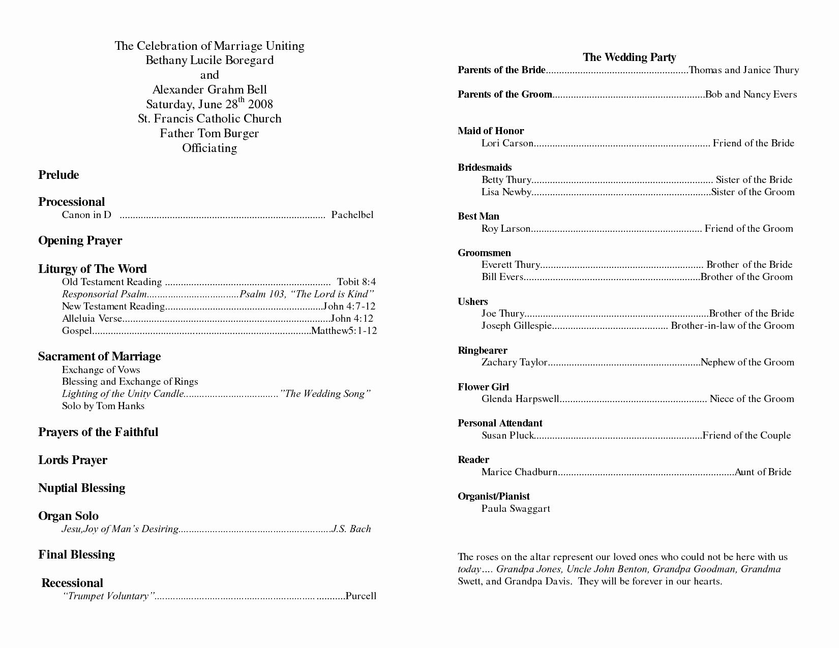 Church Program Template Free Elegant Church Program Template
