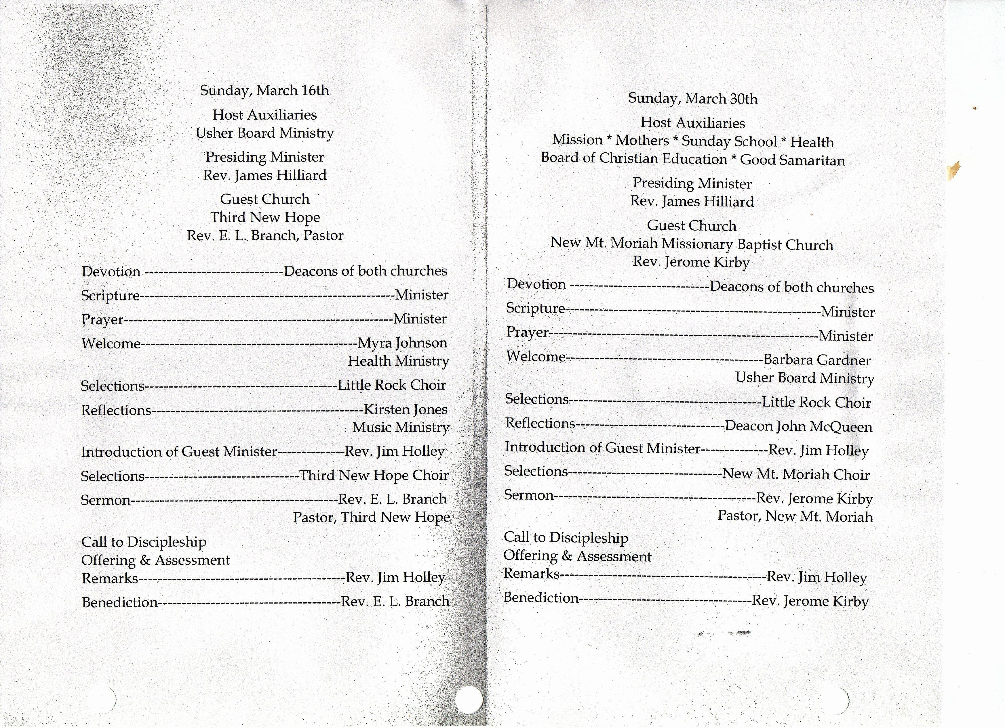 Church Program Template Free Fresh Choir Anniversary Program