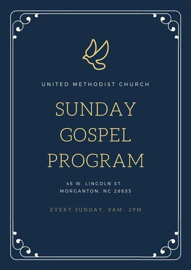Church Program Template Free Luxury Customize 21 Church Program Templates Online Canva