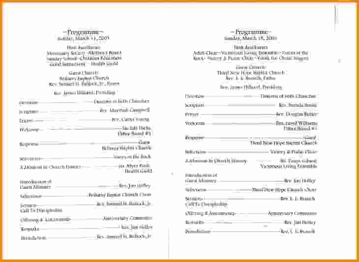 Church Program Template Free Unique 15 Church Program Template Free
