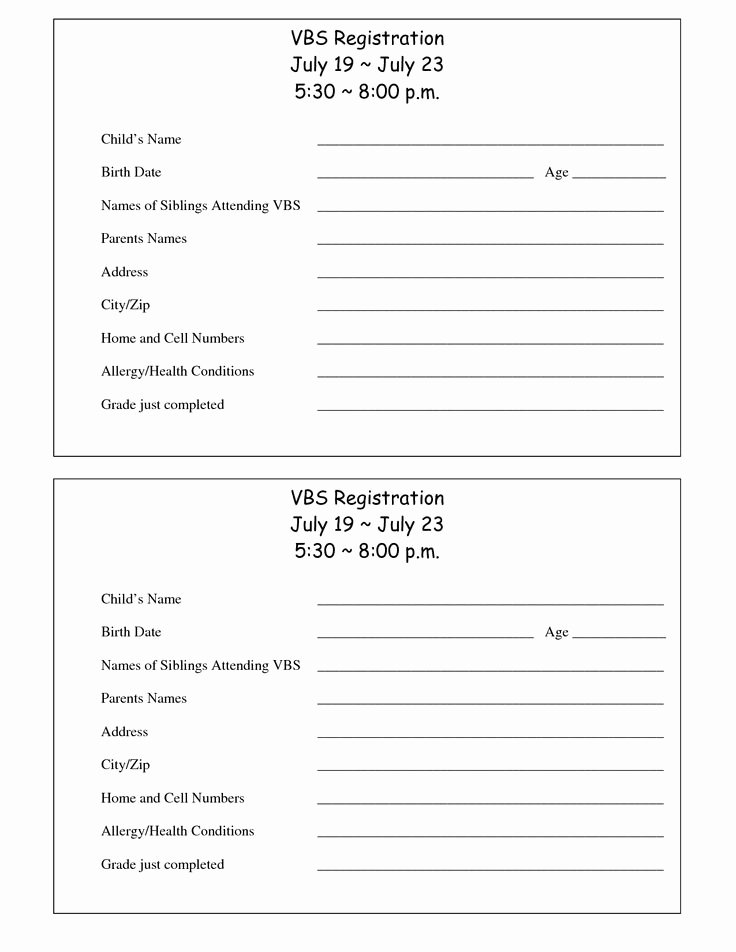 Church Registration form Elegant 13 Best Church Day Camp Youth Revival Images On Pinterest