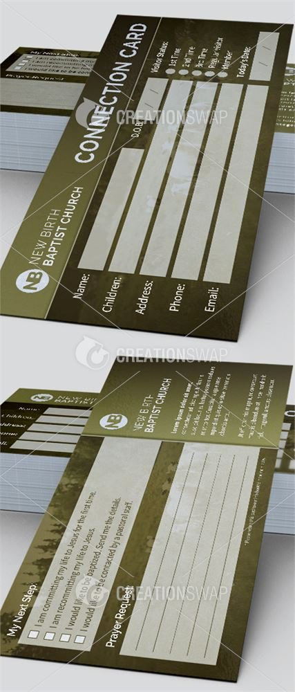 Church Visitor Card Template Word Awesome 8 Church Connection Card Templates