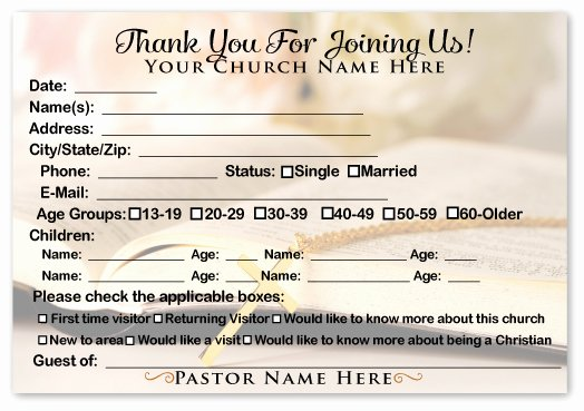 Church Visitor Card Template Word Beautiful Wel E Visitor Cards Ministry Greetings Christian
