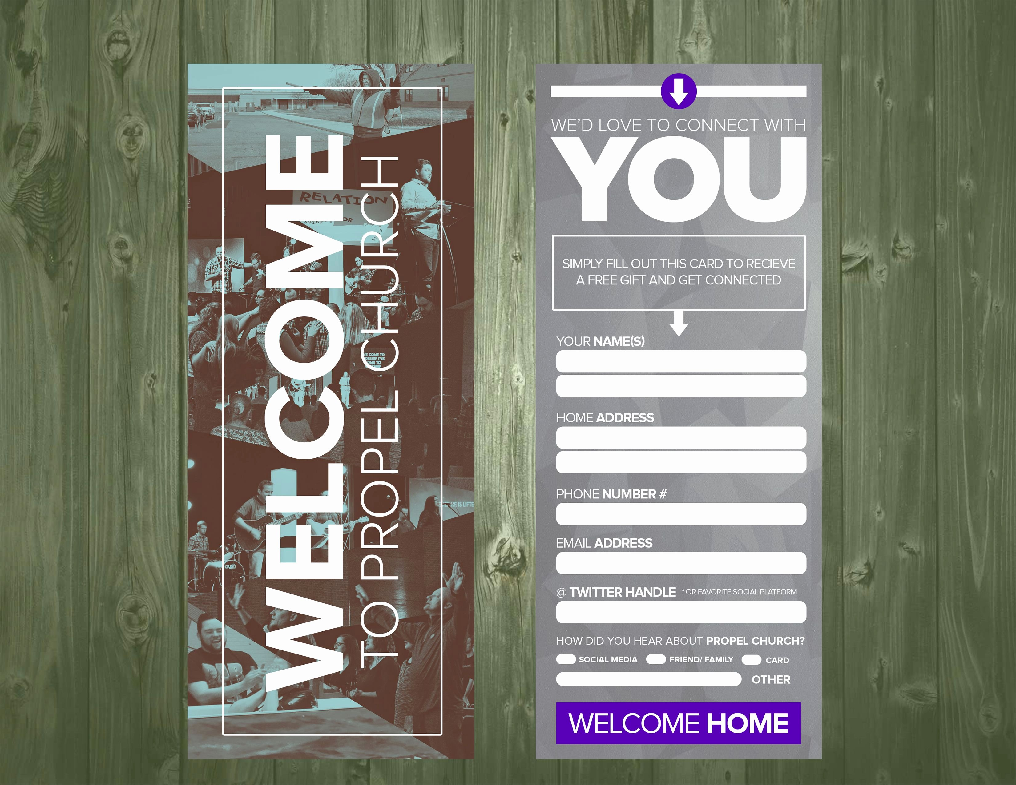 Church Visitor Card Template Word Best Of 3 5×9 Psd Connection Card Template