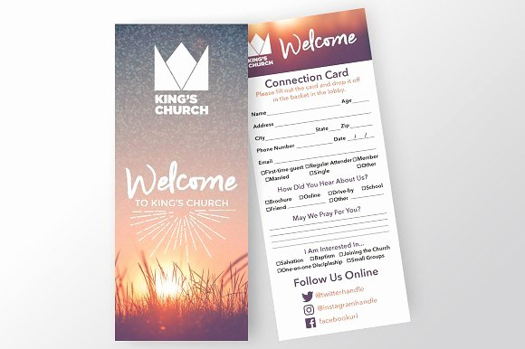 Church Visitor Card Template Word Best Of Church Connection Card Invitation Templates On Creative