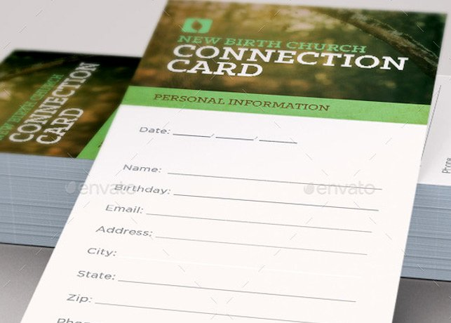 Church Visitor Card Template Word Best Of Grow with Us Connection Card Template