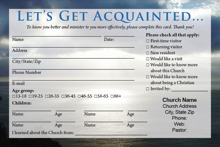 Church Visitor Card Template Word Inspirational Best 25 Wel E Card Ideas On Pinterest