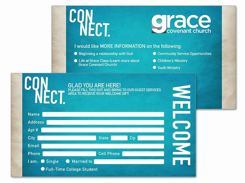 Church Visitor Card Template Word Lovely Connect Cards Church Google Search