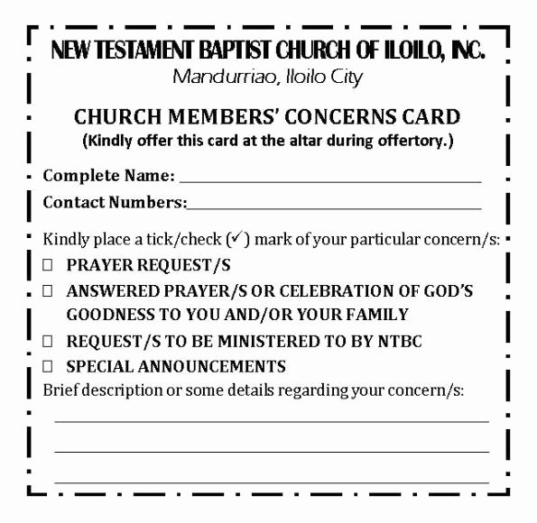 Church Visitor Card Template Word Luxury forms