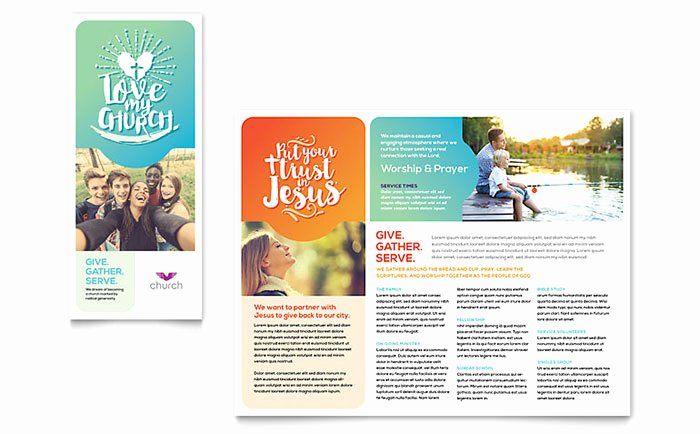 Church Visitor Card Template Word Unique Church Brochure Template Word & Publisher