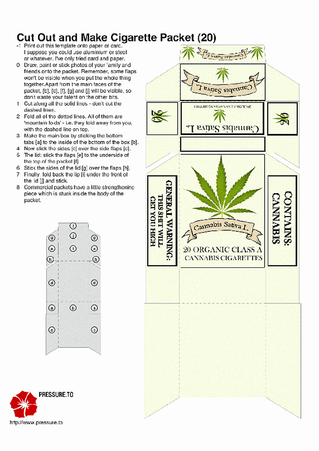 Cigarette Box Template Beautiful Make Your Own Custom Cigarette Pack for Pre Rolled Joints