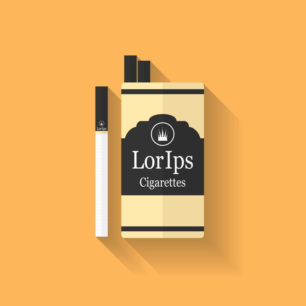 Cigarette Box Template Best Of Icon Of Cigarette Pack Flat Style Icons Creative Market