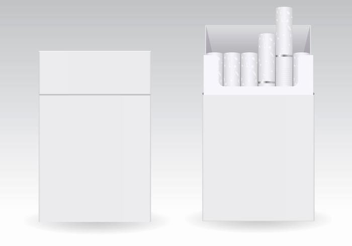 Cigarette Box Template Luxury Free Cigarettes Blank Packs Vector Download Free Vector