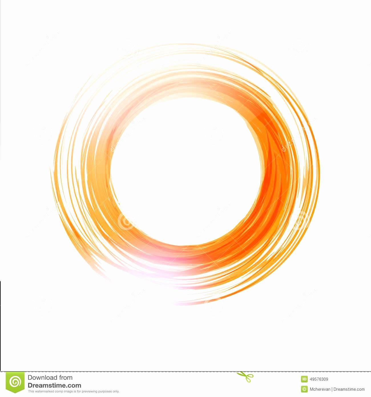 Circle Banner Template Beautiful Vector Abstract orange Circle Logo Design Template